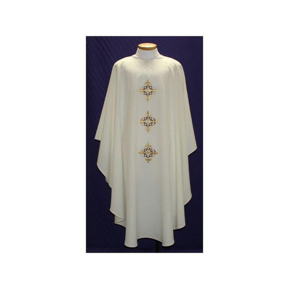 Beau Veste 2027 Easy Care Embroidered Chasuble  Purple  Embroidered Front Only