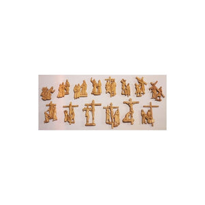 "Stations of the Cross-wood colour (9""-13 3/8""/ 23-34 cm)-1,Stations of the Cross-wood colour (9""-13 3/8""/ 23-34 cm)-3"
