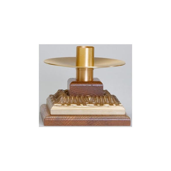Ziegler | Style 591 | Altar Candlestick | Satin Bronze Finish | Sold in Pairs
