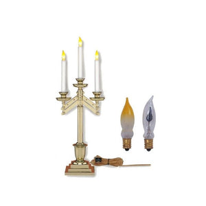 Christian Brands SB154-3E-PAIR Three Light Table Candelabra