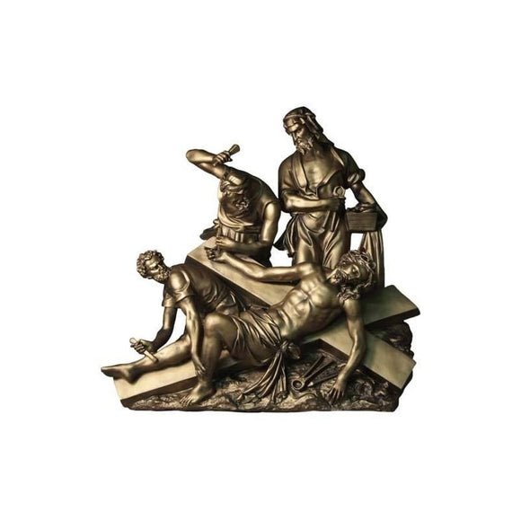 F7450-63BRZ Fiberglass Bronze Finish Stations of The Cross