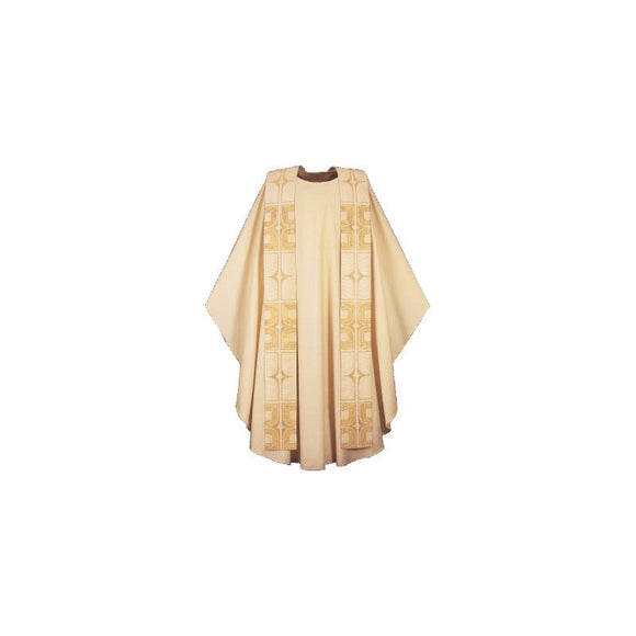 Light Gold Chasuble and overlay stole-1