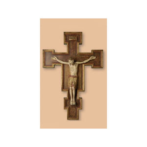 734020 Crucifix Romanesque - Wood Carved