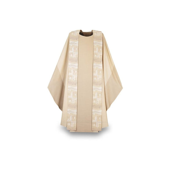 White Chasuble and overlay stole-1