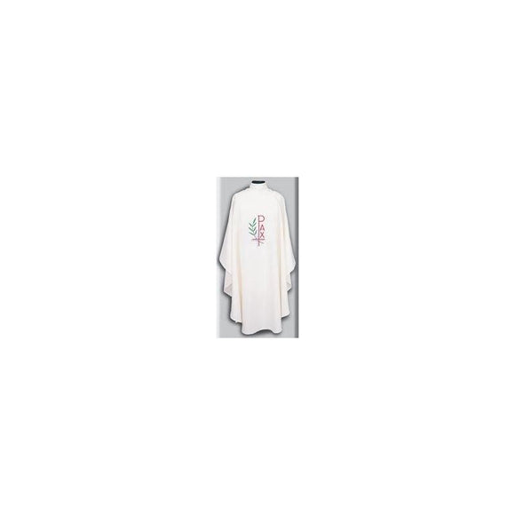 Beau Veste 868 PAX Design - Chasuble  Pure White  Embroidered Front Only