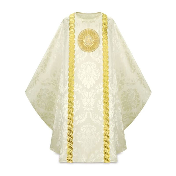 White Gothic Chasuble-1,White Gothic Chasuble-2