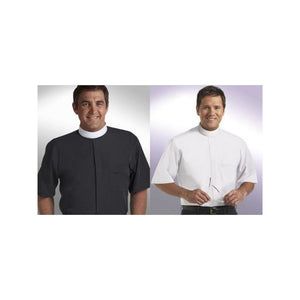 SM-103 Short Sleeve Banded Collar Clergy Shirts Size 18 1/2""