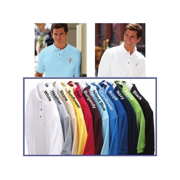 Beau Veste Deacon Egyptian Cotton Polo Deacon Polo Egyptian Cotton  Long Sleeve  White