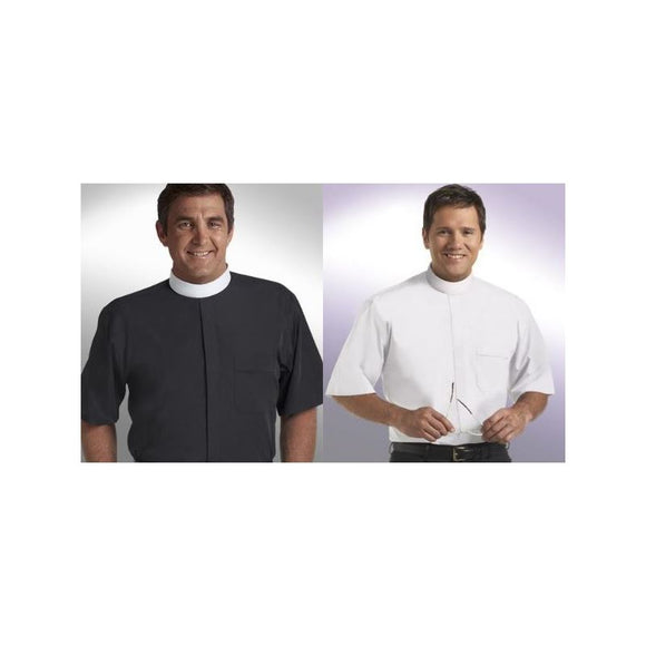 SM-103 Short Sleeve Banded Collar Clergy Shirts Size 16