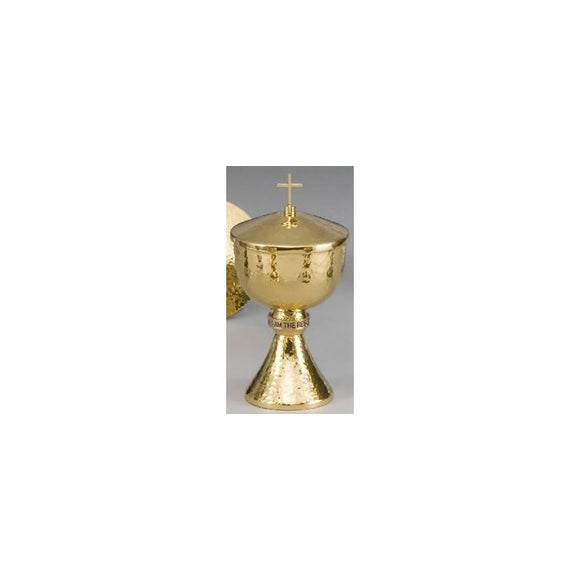 Ziegler | Style 495 | Ciborium ONLY | Round Hammered Gold Finish