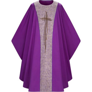 Purple Gothic Chasuble-1,Purple Gothic Chasuble-2,Purple Gothic Chasuble-3