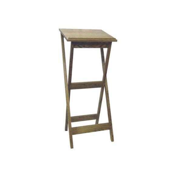 PORTABLE LECTERN,WOOD TOP