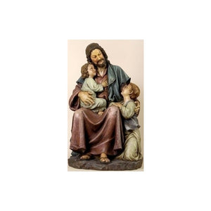 "27018 29"" Jesus With Children Statue"