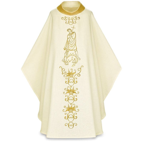 White Gothic Chasuble-1,White Gothic Chasuble-2,White Gothic Chasuble-3