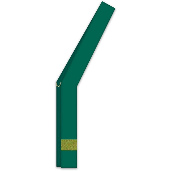 ASSISI Deacon stole with woven Orphrey (green)-1,ASSISI Deacon stole with woven Orphrey (green)-2