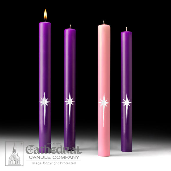 Star of the Magi Advent Candles