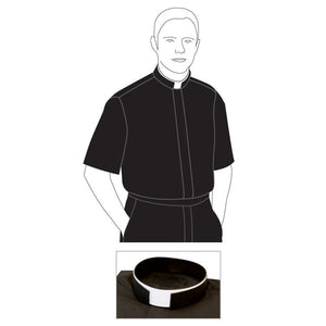 Clergyshirt with border-1