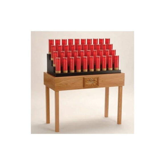 19X740TB Oak Table Votive Stand