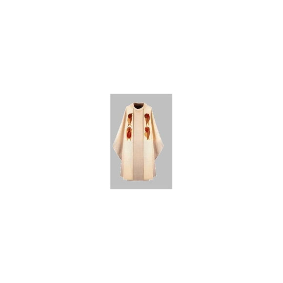White Chasuble and overlay stole