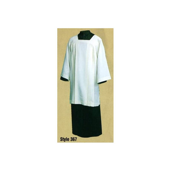 360/363/367 Ecumenical Surplice WHITE 100% Polyester (363)