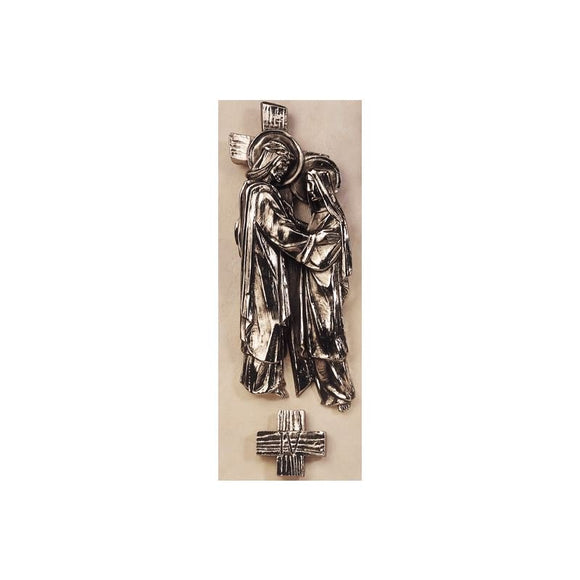 "Stations of the Cross-silver colour (11""""-16""""/ 30-42 cm)-1"