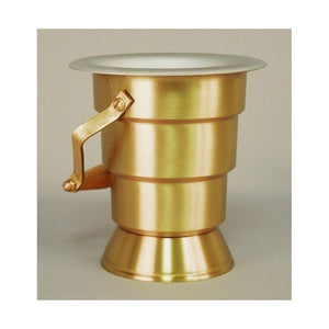 Ziegler | Style 641 | Holy Water Bucket | Satin Bronze Finish | Lent and Easter