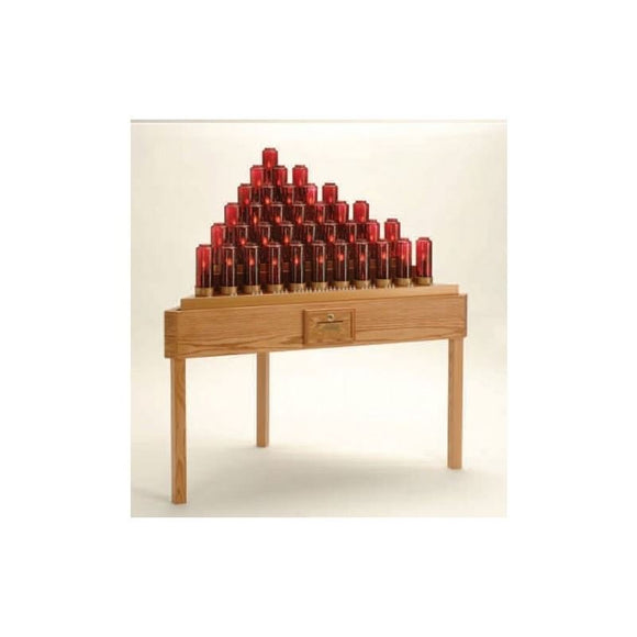 19XE736TB Oak Table Electronic Votive Stand