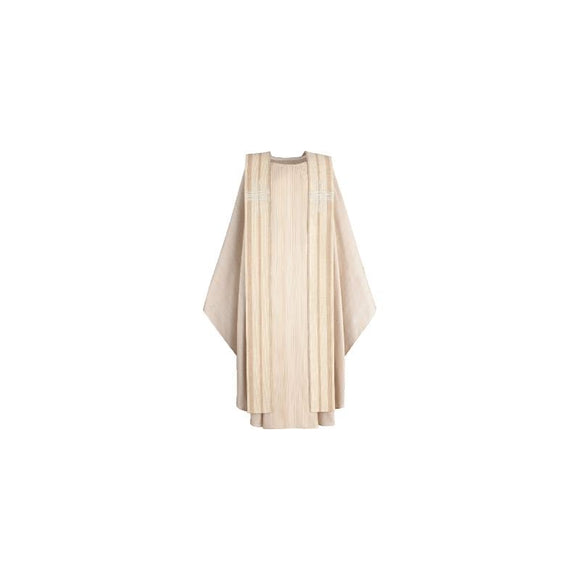 Beige Chasuble and overlay stole-1