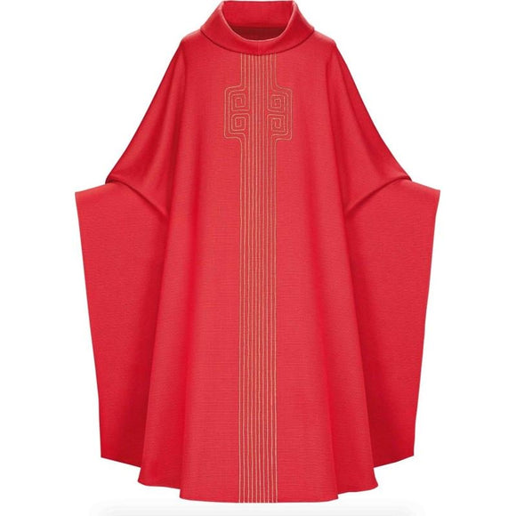 Red Monastic Chasuble-1,Red Monastic Chasuble-2