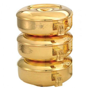 Ciboria - 3pc. Stacking Set, Hammered Collection, 24k Gold, 446G