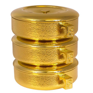 Ciboria - 3pc. Stacking Set, Talon Collection, 24k Gold, 460G