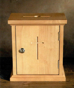 Offering Box with Lock and Removable Receptacle