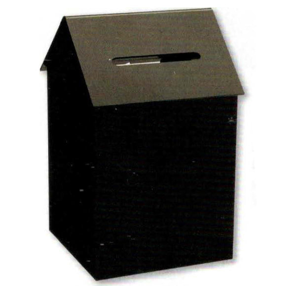 House Shape Donation Box Black Acrylic with Lock