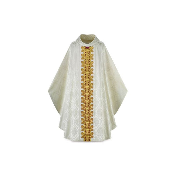 White (Lined) Gothic Chasuble-1,White (Lined) Gothic Chasuble-2