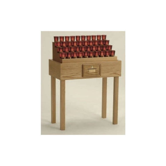 19XE40TB Oak Table Electronic Votive Stand