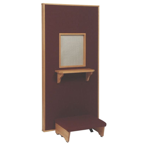 CONFESSIONAL KNEELER/SHELF,Woerner Wood Stain Colors,Woerner Fabric Colors