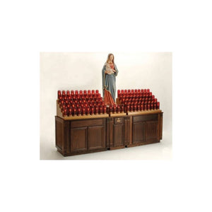 19XE7104CAB Oak Cabinet Electronic Votive Stand
