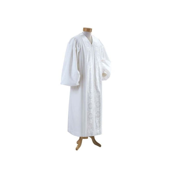A515 Pulpit Robe - White Brocade Panels