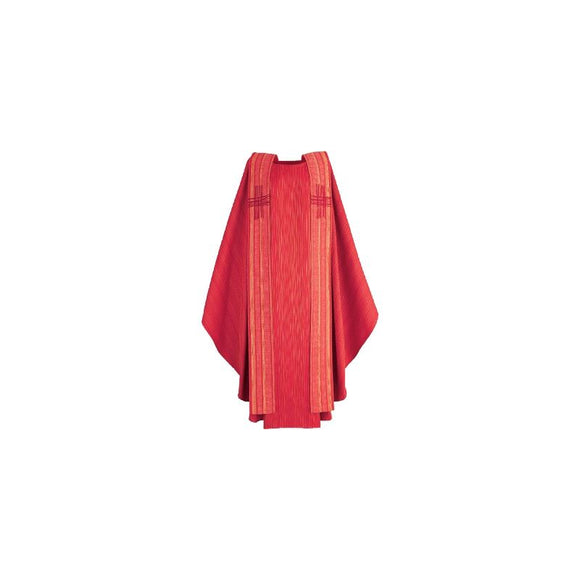 Red Chasuble and overlay stole-1
