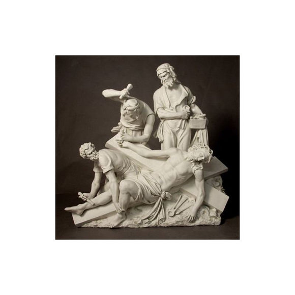 F7450-63AS Fiberglass Antique Stone Stations of The Cross