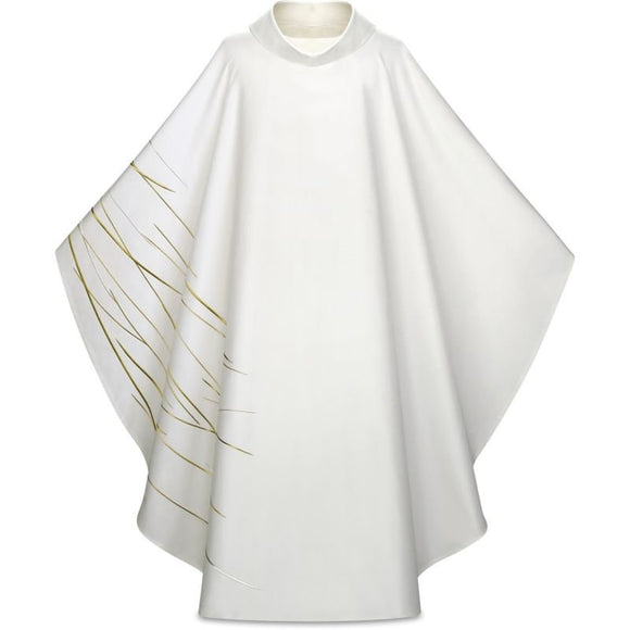 White (Lined) Gothic Chasuble-1