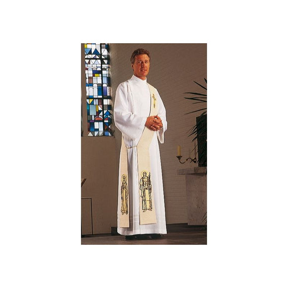 White Deacon stole-1