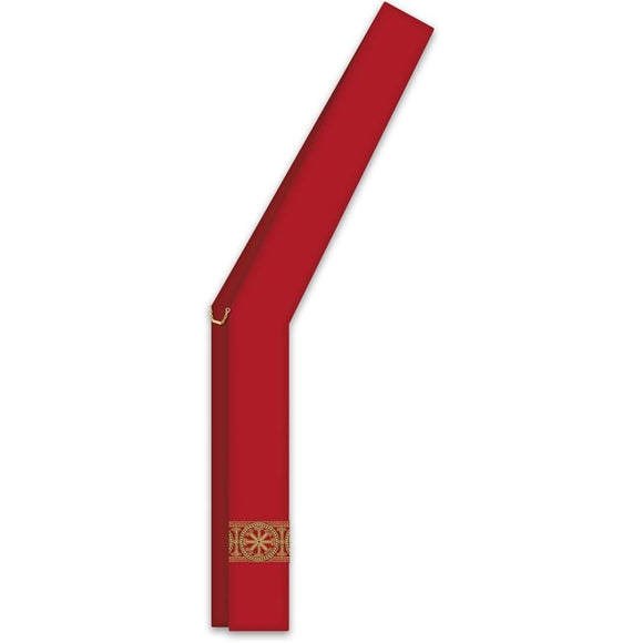 ASSISI Deacon stole with woven Orphrey (red)-1,ASSISI Deacon stole with woven Orphrey (red)-2