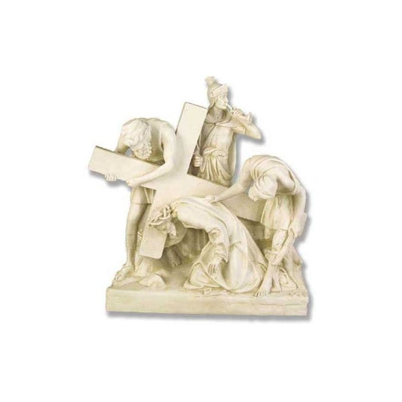 F7741-54AS Fiberglass Antique Stone Stations of The Cross