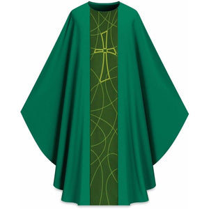 Dark Green Gothic Chasuble-1,Dark Green Gothic Chasuble-2