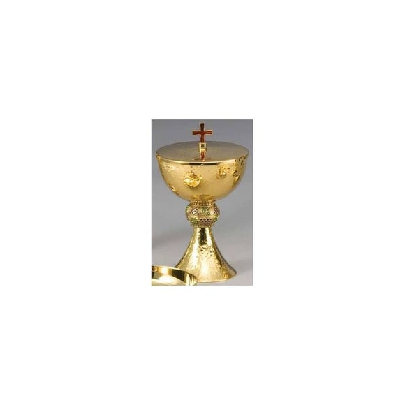 Ziegler | Style 469 | Ciborium ONLY | Round Hammered Gold Finish