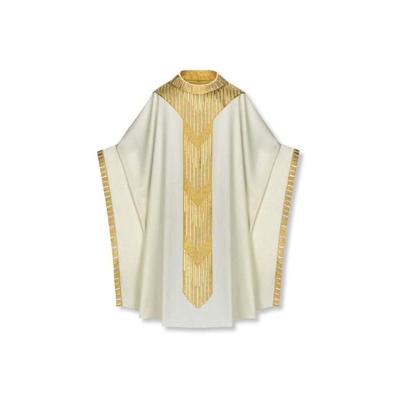White Chasuble worn by Pope Benedict XVI-1,White Chasuble worn by Pope Benedict XVI-2,White Chasuble worn by Pope Benedict XVI-3,White Chasuble worn by Pope Benedict XVI-4,White Chasuble worn by Pope Benedict XVI-5