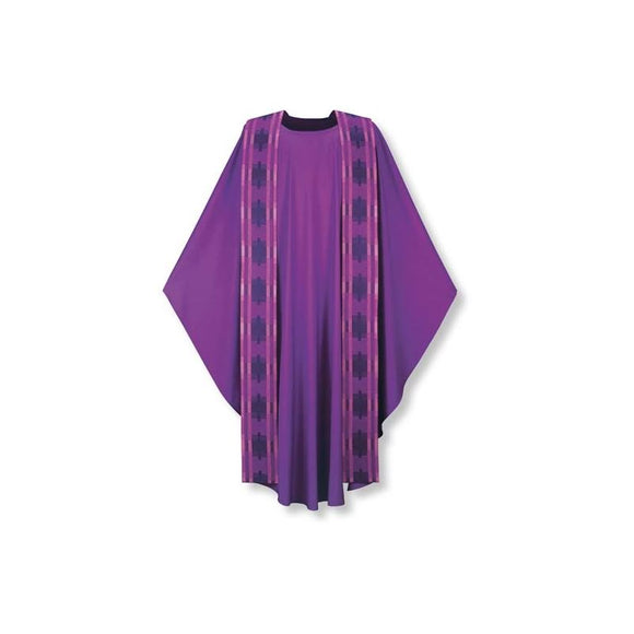 Purple Chasuble and overlay stole-1