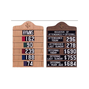 TO5033 Hymn Board/Register Board