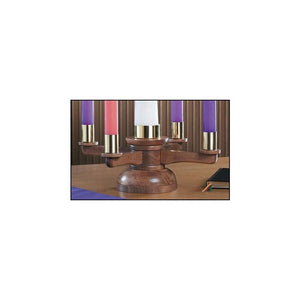 Christian Brands RSJC662 Wood Tabletop Advent Wreath
